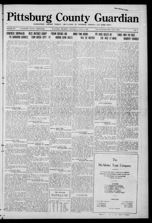Primary view of object titled 'Pittsburg County Guardian (McAlester, Okla.), Vol. 16, No. 51, Ed. 1 Thursday, August 11, 1921'.