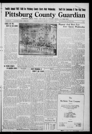 Primary view of object titled 'Pittsburg County Guardian (McAlester, Okla.), Vol. 17, No. 4, Ed. 1 Thursday, September 15, 1921'.