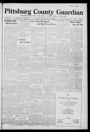 Primary view of object titled 'Pittsburg County Guardian (McAlester, Okla.), Vol. 17, No. 16, Ed. 1 Thursday, December 8, 1921'.