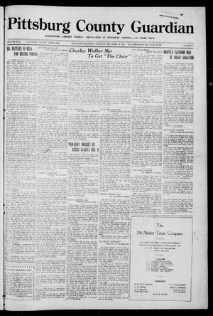Primary view of object titled 'Pittsburg County Guardian (McAlester, Okla.), Vol. 17, No. 19, Ed. 1 Thursday, December 29, 1921'.