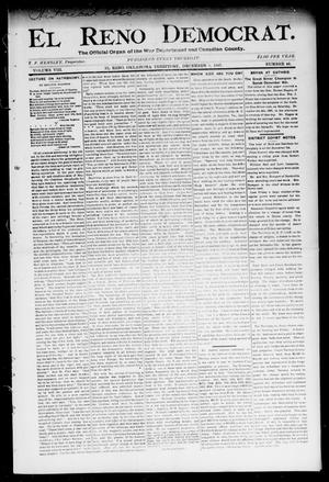 Primary view of object titled 'El Reno Democrat. (El Reno, Okla. Terr.), Vol. 8, No. 46, Ed. 1 Thursday, December 2, 1897'.