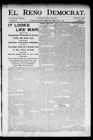Primary view of El Reno Democrat. (El Reno, Okla. Terr.), Vol. 9, No. 6, Ed. 1 Thursday, February 24, 1898