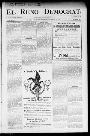 Primary view of El Reno Democrat. (El Reno, Okla. Terr.), Vol. 9, No. 49, Ed. 1 Thursday, December 22, 1898