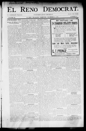 Primary view of object titled 'El Reno Democrat. (El Reno, Okla. Terr.), Vol. 9, No. 50, Ed. 1 Thursday, December 29, 1898'.