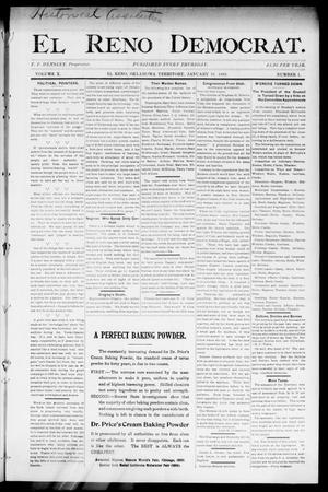 Primary view of object titled 'El Reno Democrat. (El Reno, Okla. Terr.), Vol. 10, No. 1, Ed. 1 Thursday, January 19, 1899'.