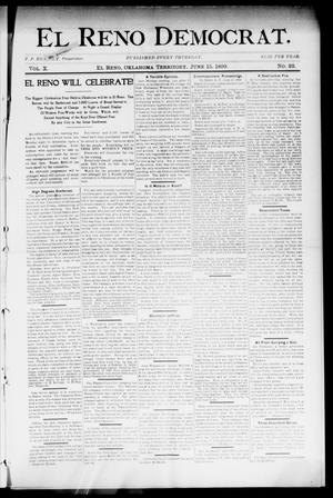 Primary view of object titled 'El Reno Democrat. (El Reno, Okla. Terr.), Vol. 10, No. 22, Ed. 1 Thursday, June 15, 1899'.