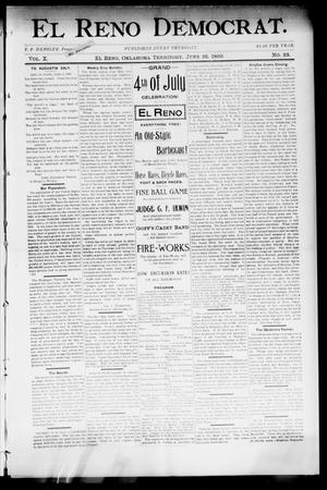 Primary view of object titled 'El Reno Democrat. (El Reno, Okla. Terr.), Vol. 10, No. 23, Ed. 1 Thursday, June 22, 1899'.