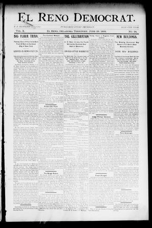 Primary view of El Reno Democrat. (El Reno, Okla. Terr.), Vol. 10, No. 24, Ed. 1 Thursday, June 29, 1899