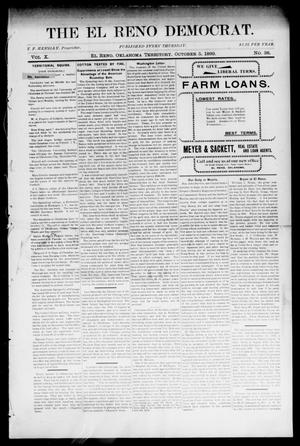 Primary view of object titled 'The El Reno Democrat. (El Reno, Okla. Terr.), Vol. 10, No. 38, Ed. 1 Thursday, October 5, 1899'.