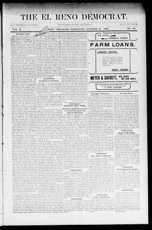 Primary view of object titled 'The El Reno Democrat. (El Reno, Okla. Terr.), Vol. 10, No. 39, Ed. 1 Thursday, October 12, 1899'.