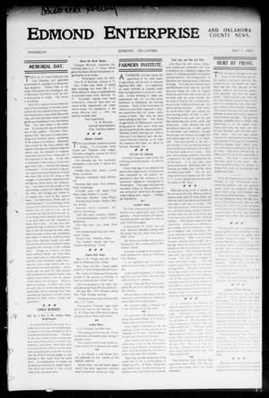 Primary view of object titled 'Edmond Enterprise and Oklahoma County News. (Edmond, Okla.), Vol. 1, No. 14, Ed. 1 Thursday, May 7, 1903'.