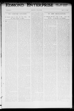 Primary view of object titled 'Edmond Enterprise and Oklahoma County News. (Edmond, Okla.), Vol. 1, No. 15, Ed. 1 Thursday, May 14, 1903'.