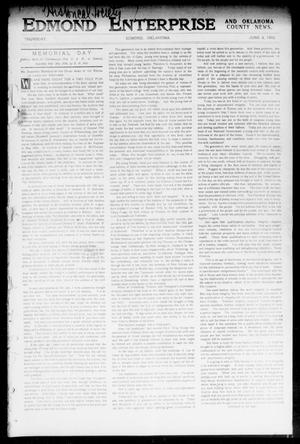 Primary view of object titled 'Edmond Enterprise and Oklahoma County News. (Edmond, Okla.), Vol. 1, No. 18, Ed. 1 Thursday, June 4, 1903'.