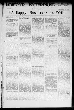 Primary view of object titled 'Edmond Enterprise and Oklahoma County News. (Edmond, Okla.), Vol. 1, No. 48, Ed. 1 Thursday, December 31, 1903'.