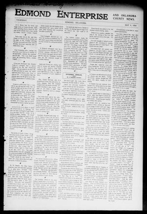 Primary view of object titled 'Edmond Enterprise and Oklahoma County News. (Edmond, Okla.), Vol. 1, No. 66, Ed. 1 Thursday, May 5, 1904'.