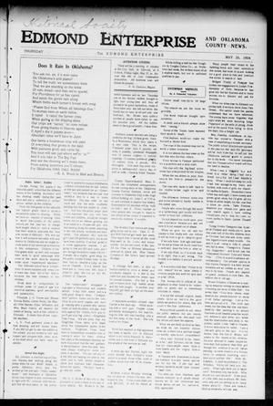Primary view of object titled 'Edmond Enterprise and Oklahoma County News. (Edmond, Okla.), Vol. 1, No. 69, Ed. 1 Thursday, May 26, 1904'.