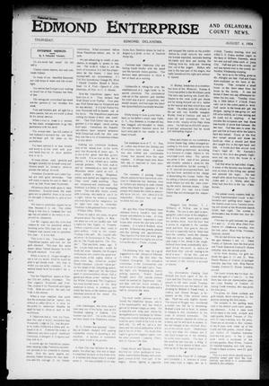 Primary view of object titled 'Edmond Enterprise and Oklahoma County News. (Edmond, Okla.), Vol. 1, No. 79, Ed. 1 Thursday, August 4, 1904'.