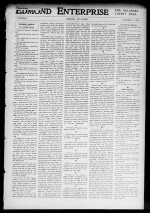Primary view of object titled 'Edmond Enterprise and Oklahoma County News. (Edmond, Okla.), Vol. 1, No. 88, Ed. 1 Thursday, October 6, 1904'.