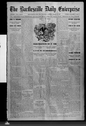 Primary view of object titled 'The Bartlesville Daily Enterprise (Bartlesville, Indian Terr.), Vol. 1, No. 2, Ed. 1 Thursday, August 10, 1905'.