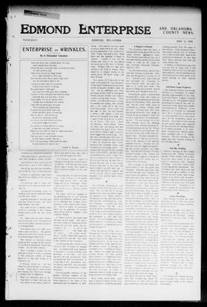 Primary view of object titled 'Edmond Enterprise and Oklahoma County News. (Edmond, Okla.), Vol. 2, No. 6, Ed. 1 Thursday, May 3, 1906'.