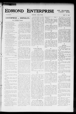 Primary view of object titled 'Edmond Enterprise and Oklahoma County News. (Edmond, Okla.), Vol. 2, No. 10, Ed. 1 Thursday, May 31, 1906'.