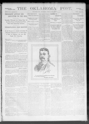 Primary view of object titled 'The Oklahoma Post. (Oklahoma City, Okla.), Vol. 5, No. 8, Ed. 1 Sunday, June 17, 1906'.