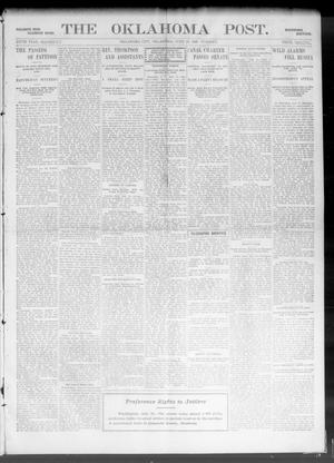 Primary view of object titled 'The Oklahoma Post. (Oklahoma City, Okla.), Vol. 5, No. 10, Ed. 1 Tuesday, June 19, 1906'.
