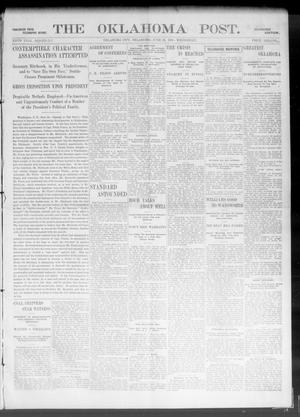 Primary view of object titled 'The Oklahoma Post. (Oklahoma City, Okla.), Vol. 5, No. 11, Ed. 1 Wednesday, June 20, 1906'.