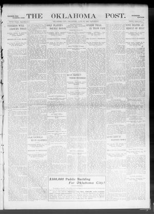 Primary view of object titled 'The Oklahoma Post. (Oklahoma City, Okla.), Vol. 5, No. 21, Ed. 1 Saturday, June 30, 1906'.
