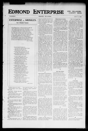 Primary view of object titled 'Edmond Enterprise and Oklahoma County News. (Edmond, Okla.), Vol. 2, No. 15, Ed. 1 Thursday, July 5, 1906'.