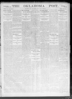 Primary view of object titled 'The Oklahoma Post. (Oklahoma City, Okla.), Vol. 5, No. 38, Ed. 1 Tuesday, July 17, 1906'.