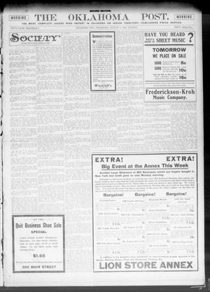 Primary view of object titled 'The Oklahoma Post. (Oklahoma City, Okla.), Vol. 5, No. 57, Ed. 1 Sunday, August 5, 1906'.