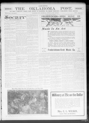 Primary view of object titled 'The Oklahoma Post. (Oklahoma City, Okla.), Vol. 5, No. 64, Ed. 2 Sunday, August 12, 1906'.