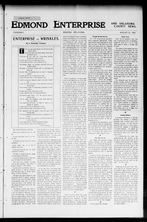 Primary view of object titled 'Edmond Enterprise and Oklahoma County News. (Edmond, Okla.), Vol. 2, No. 23, Ed. 1 Thursday, August 30, 1906'.
