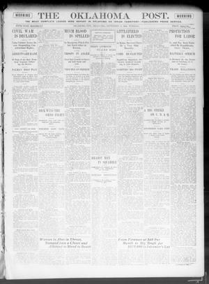 Primary view of object titled 'The Oklahoma Post. (Oklahoma City, Okla.), Vol. 5, No. 93, Ed. 1 Tuesday, September 11, 1906'.