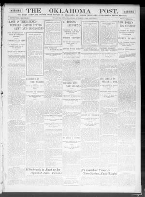 Primary view of object titled 'The Oklahoma Post. (Oklahoma City, Okla.), Vol. 5, No. 118, Ed. 1 Saturday, October 6, 1906'.