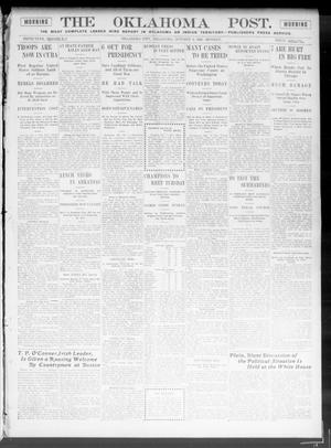 Primary view of object titled 'The Oklahoma Post. (Oklahoma City, Okla.), Vol. 5, No. 120, Ed. 1 Monday, October 8, 1906'.