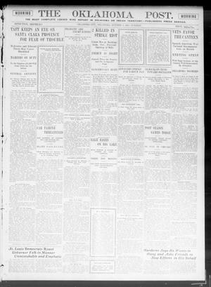 Primary view of object titled 'The Oklahoma Post. (Oklahoma City, Okla.), Vol. 5, No. 121, Ed. 1 Tuesday, October 9, 1906'.