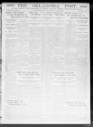 Primary view of object titled 'The Oklahoma Post. (Oklahoma City, Okla.), Vol. 5, No. 122, Ed. 1 Wednesday, October 10, 1906'.
