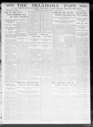 Primary view of object titled 'The Oklahoma Post. (Oklahoma City, Okla.), Vol. 5, No. 124, Ed. 1 Friday, October 12, 1906'.