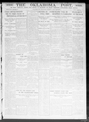 Primary view of object titled 'The Oklahoma Post. (Oklahoma City, Okla.), Vol. 5, No. 125, Ed. 1 Saturday, October 13, 1906'.