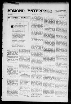 Primary view of object titled 'Edmond Enterprise and Oklahoma County News. (Edmond, Okla.), Vol. 2, No. 37, Ed. 1 Thursday, December 6, 1906'.