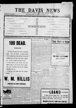 Primary view of object titled 'The Davis News (Davis, Okla.), Vol. 15, No. 8, Ed. 1 Thursday, October 8, 1908'.