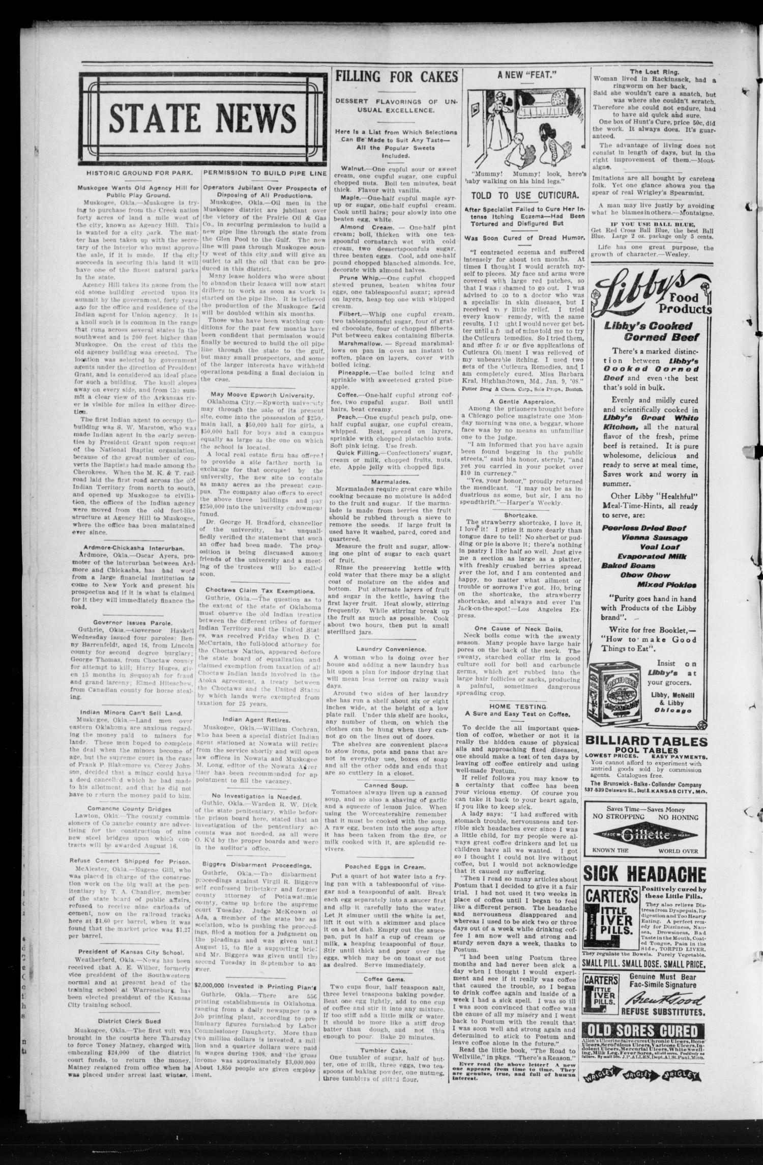 Luther Register. (Luther, Okla.), Vol. 10, No. 52, Ed. 1 Friday, July 23, 1909                                                                                                      [Sequence #]: 2 of 8