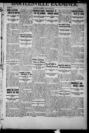Primary view of object titled 'Bartlesville Examiner. (Bartlesville, Okla.), Vol. 14, No. 311, Ed. 1 Friday, August 6, 1909'.