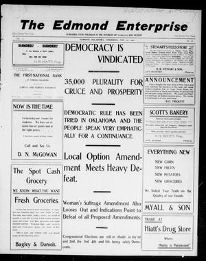 Primary view of The Edmond Enterprise (Edmond, Okla.), Vol. 10, No. 38, Ed. 1 Thursday, November 10, 1910