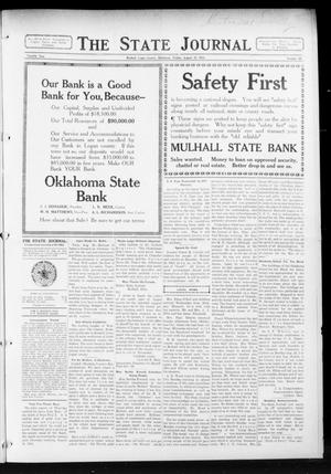 Primary view of object titled 'The State Journal (Mulhall, Okla.), Vol. 12, No. 38, Ed. 1 Friday, August 21, 1914'.
