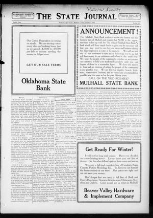 Primary view of object titled 'The State Journal (Mulhall, Okla.), Vol. 12, No. 45, Ed. 1 Friday, October 9, 1914'.