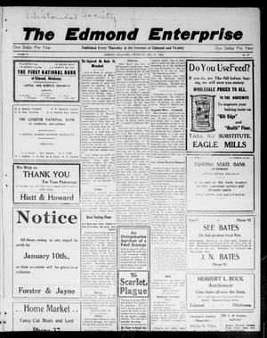 Primary view of object titled 'The Edmond Enterprise (Edmond, Okla.), Vol. 14, No. 47, Ed. 1 Thursday, December 31, 1914'.