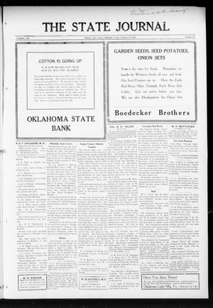 Primary view of object titled 'The State Journal (Mulhall, Okla.), Vol. 13, No. 12, Ed. 1 Friday, February 19, 1915'.
